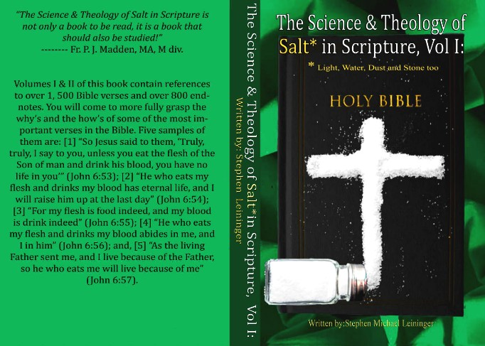 The Cover Image of the Science & Theology of Salt in Scripture, Volume I
